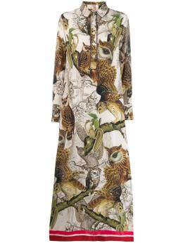F.R.S For Restless Sleepers - owl print maxi dress 66859TE6635595550536