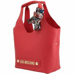 Love Moschino Red Synthetic Leather Scarf Shoulder Bag Raymond Weil 224227