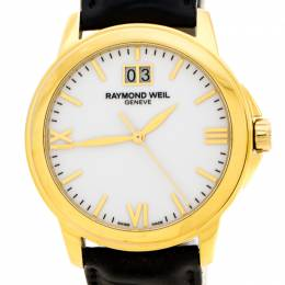 Raymond Weil White Dial Gold Plated Stainless Steel Tradition 5476 Men's Wristwatch 39 mm 225490