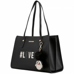 Love Moschino Black Synthetic Leather Shoulder Bag