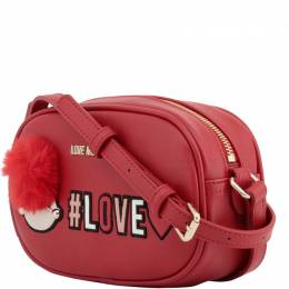 Love Moschino Red Synthetic Leather Crossbody Bag