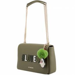 Love Moschino Green Synthetic Leather Shoulder Bag