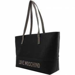 Love Moschino Black Pebbled Synthetic Leather Tote Raymond Weil 224241