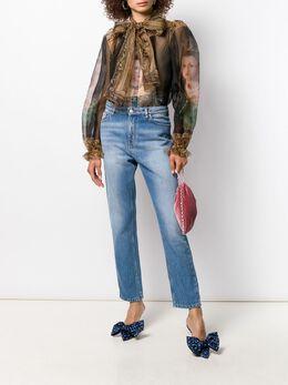 Dolce & Gabbana - полупрозрачная блузка с принтом 63TGDO30955956680000