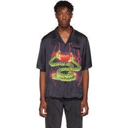 Stolen Girlfriends Club SSENSE Exclusive Black Lightning Hawaiian Shirt 192068M19200902GB