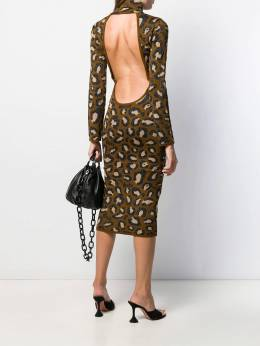 Gcds - платье миди с леопардовым принтом 6W606655955906890000