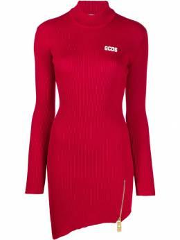 Gcds - платье в рубчик с асимметричным подолом 6W606659955906860000