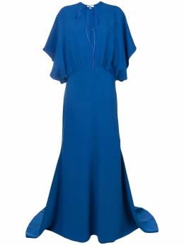Esteban Cortazar - длинное платье с драпировками 05936630980000000000