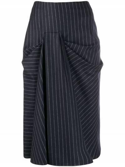 Alexander McQueen - юбка миди со сборками 035QJAAM955839580000 - 1