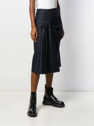 Alexander McQueen - юбка миди со сборками 035QJAAM955839580000 - 3