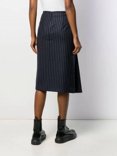 Alexander McQueen - юбка миди со сборками 035QJAAM955839580000 - 4