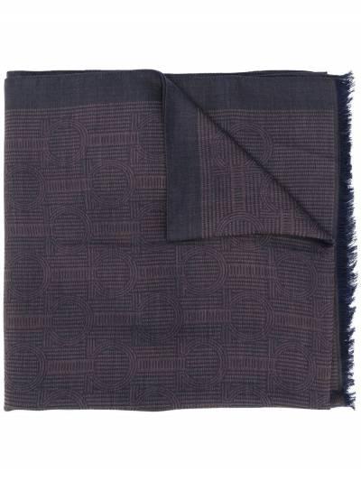 Salvatore Ferragamo шарф с декором Gancini 5275930713408 - 1