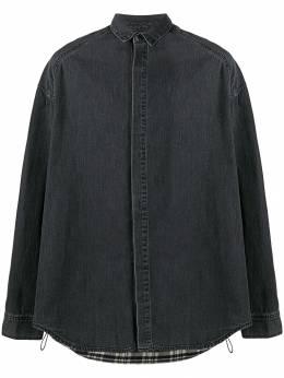 Juun.J куртка-рубашка с клетчатой вставкой JC9X64P175