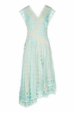 Голубое платье из кружевной ткани Zimmermann 1411150972