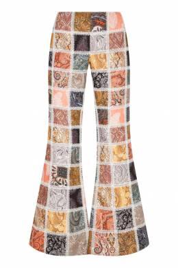 Льняные брюки в стиле пэчворк Ninety Six Zimmermann 1411150967