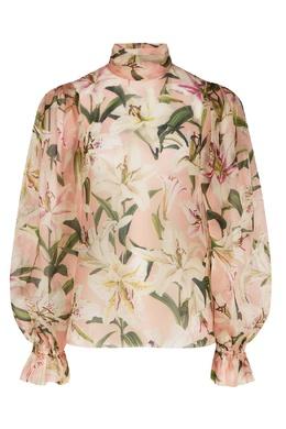 Розовая блузка с цветочным рисунком Dolce&Gabbana 599151036