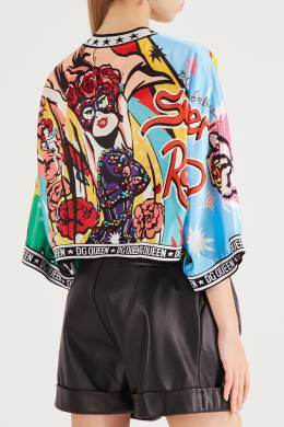 Блузка кроя оверсайз с принтом Dolce&Gabbana 599150993