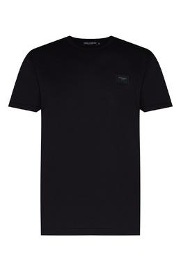 Футболка темно-синего цвета Dolce&Gabbana 599150883