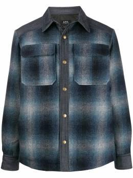 A.P.C. куртка-рубашка в клетку WOAJQH02562