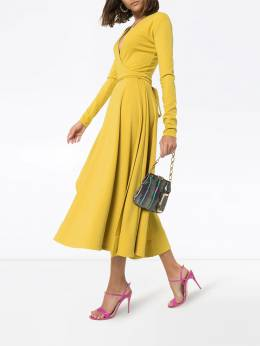 Esteban Cortazar - платье миди асимметричного кроя с V-образным вырезом и запахом 00O95998939598980000
