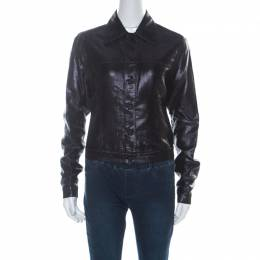 Gucci Black Lurex Knit Shiny Look Jacket M 225645