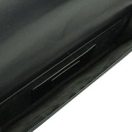 Saint Laurent Paris Black Leather Clutch Bag