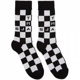 Marc Jacobs Black and White The Logo Socks 192190F07601401GB