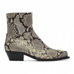 Misbhv Grey and Black Iggy Cowboy Boots 192937M22800104GB