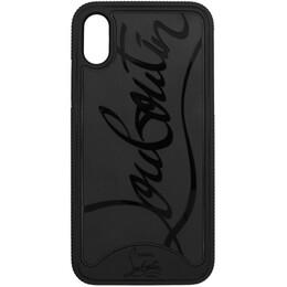 Christian Louboutin Black Loubiphone Sneakers iPhone X/XS Case 1195360