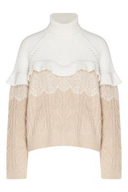 Комбинированный свитер с отделкой Fendi 1632151554