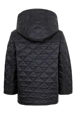 Черная куртка с капюшоном Burberry Kids 1253151711