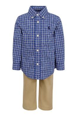 Комплект из рубашки и брюк для мальчика Ralph Lauren Kids 1252151768