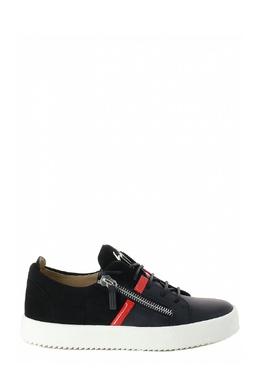 Черные кеды с красной полоской Giuseppe Zanotti Design 2096151989