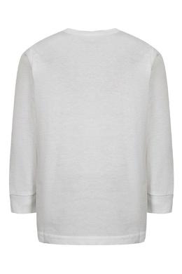 Белый лонгслив с контрастным логотипом Ralph Lauren Kids 1252151777