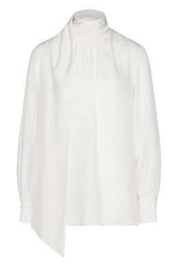 Белая блузка с принтом Fendi 1632151510