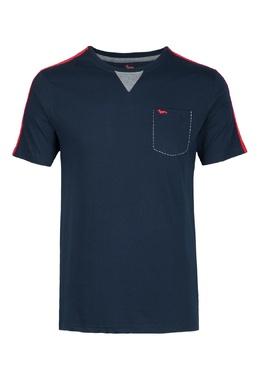 Синяя футболка с контрастными вставками Harmont & Blaine 2552151999