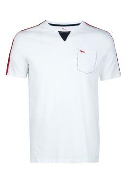 Белая футболка с контрастной отстрочкой Harmont & Blaine 2552151998