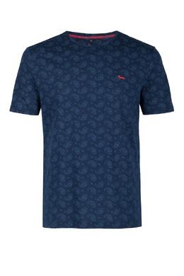 Синяя футболка с принтом Harmont & Blaine 2552151994