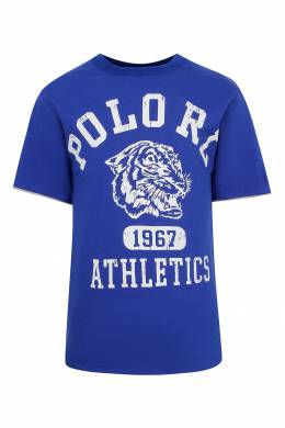 Двусторонняя футболка с логотипами Ralph Lauren Kids 1252151744