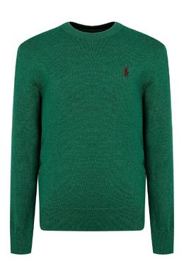 Зеленый свитер с вышивкой Ralph Lauren Kids 1252151916