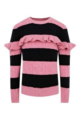Полосатый свитер с рюшами Ralph Lauren Kids 1252151912