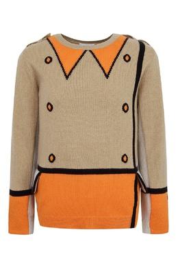 Вязаный свитер с рисунком Burberry Kids 1253151919