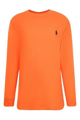 Оранжевый лонгслив с логотипом Ralph Lauren Kids 1252151782