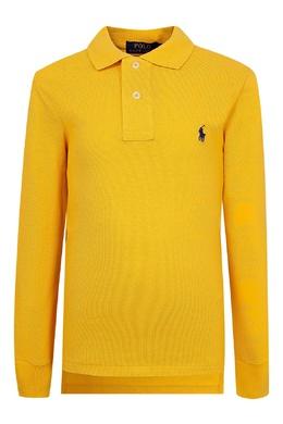 Желтое поло с длинными рукавами Ralph Lauren Kids 1252151722