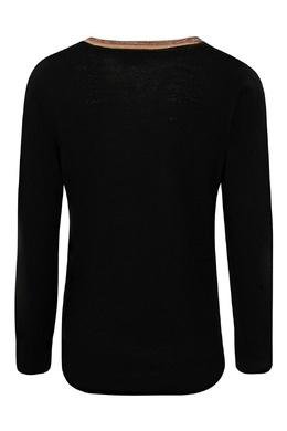 Черный кардиган с контрастной отделкой Burberry Kids 1253151906