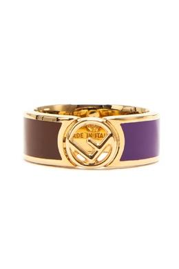 Позолоченное кольцо с отделкой эмалью Fendi 1632151480