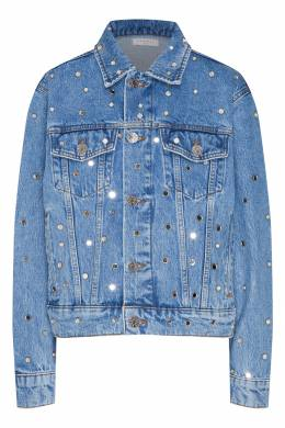 Голубой джинсовый жакет с отделкой Sandro 914151465