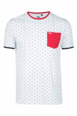 Белая футболка с якорями Harmont & Blaine 2552152000