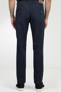Синие брюки из фактурной ткани Harmont & Blaine 2552152008