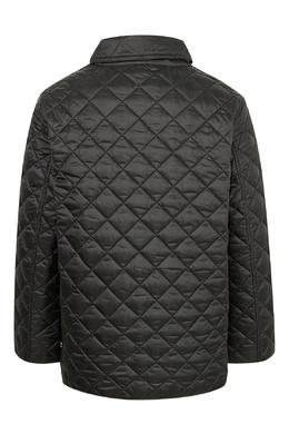 Черная стеганая куртка Burberry Kids 1253151666